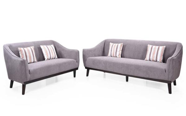 Gomez Three Seater Suede Fabric Sofa