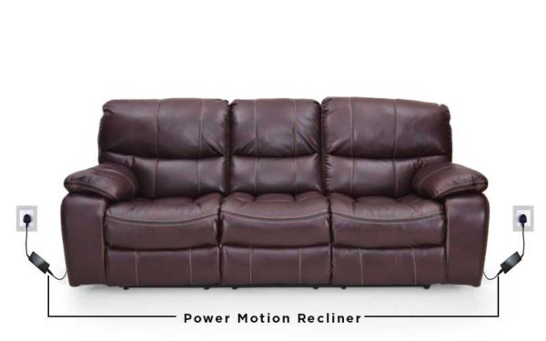 Gus Three Seater Automatic Recliner in Leatherette