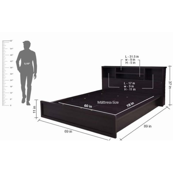 Jason Queen Size Bed with Box Storage