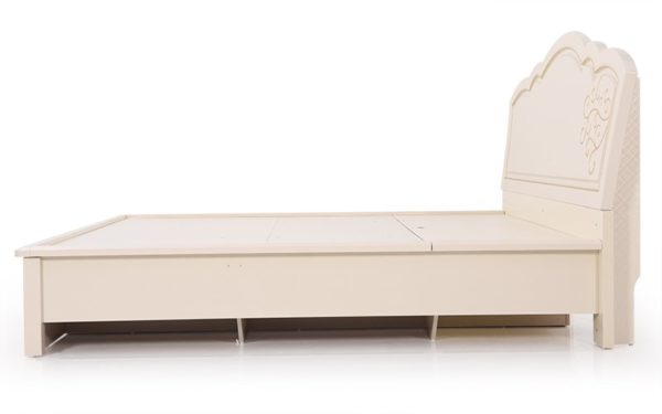 Keen King Size Bed With Hydraulic Storage and High Gloss Pearl Finish