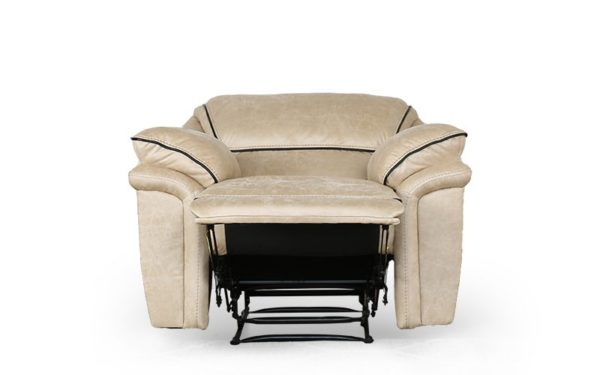 Krysten Recliner Single Seater with Rich Fabric