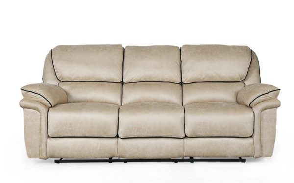 Krysten Recliner Three Seater With Rich Fabric