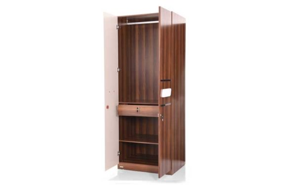 Lin 2 Door Wardrobe in High Gloss Finish