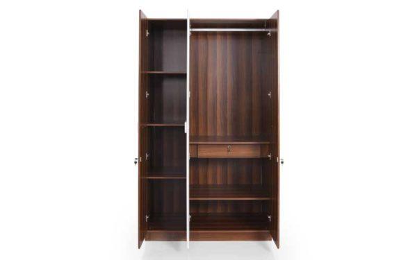 Lin 3 Door Wardrobe in High Gloss Finish