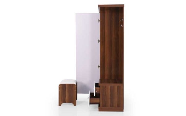 Lin Dresser with Full Length Mirror and Storage in High Gloss Finish