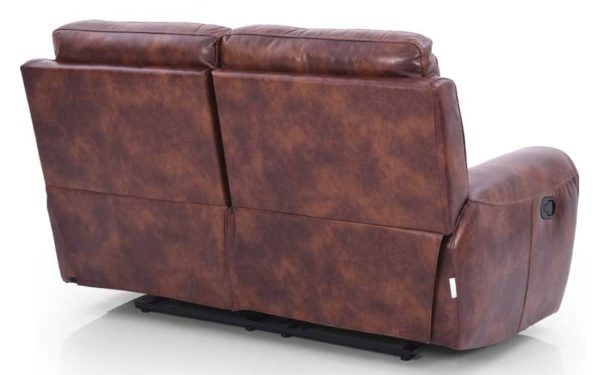 Lydia Two Seater Manual Recliner in Leatherette