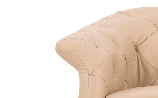 Maja Single Seater Sofa With Genuine Leather