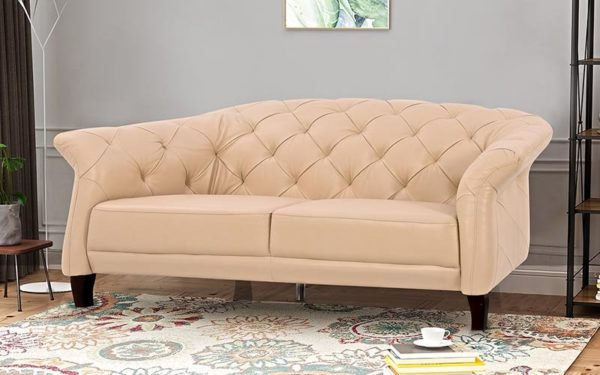 Maja Two Seater Sofa With Genuine Leather