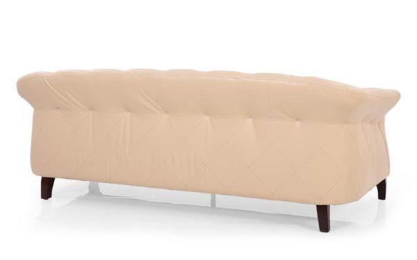 Maja Three Seater Sofa With Genuine Leather
