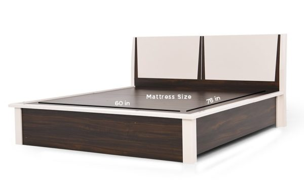 Mamoa Queen Size Bed With Hydraulic Storage in High Gloss Finish