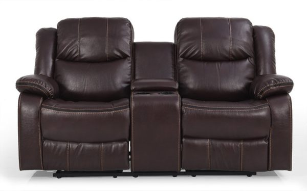 Badger Two Seater Manual Recliner With Leatherette