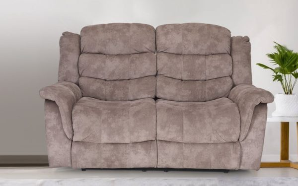 Norris Two Seater Manual Recliner in Fabric