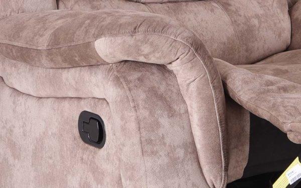 Norris Three Seater Manual Recliner in Fabric