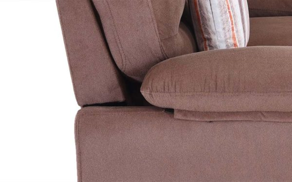 Skinny Single Seater Sofa in Suede Fabric
