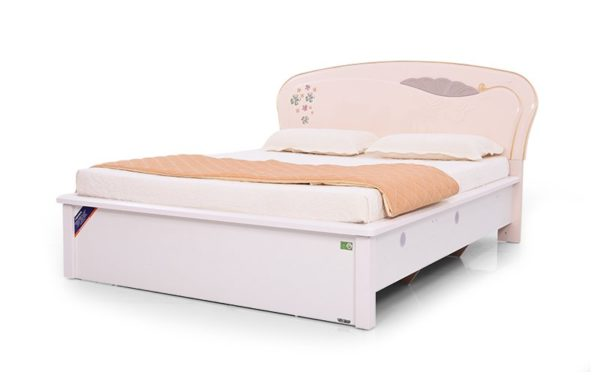 Sylvia Queen Size Bed with High Gloss Reflective Finish