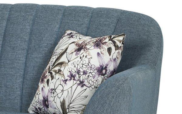 Vicari Three Seater Sofa In Fabric