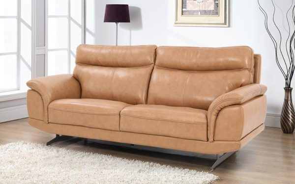 Willey Three Seater Sofa With Genuine Leather