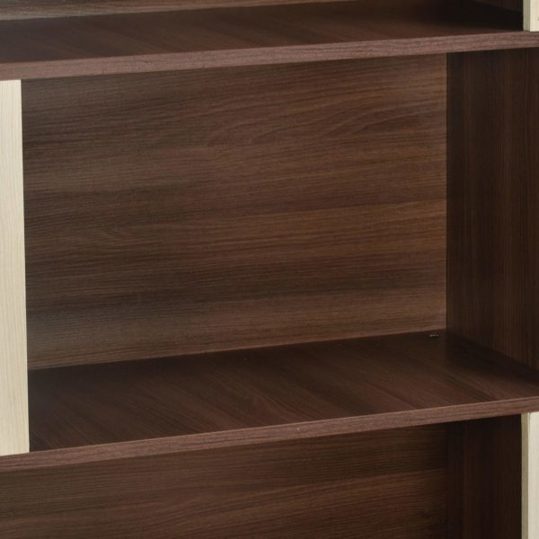Cori Bookshelf in Brown & White