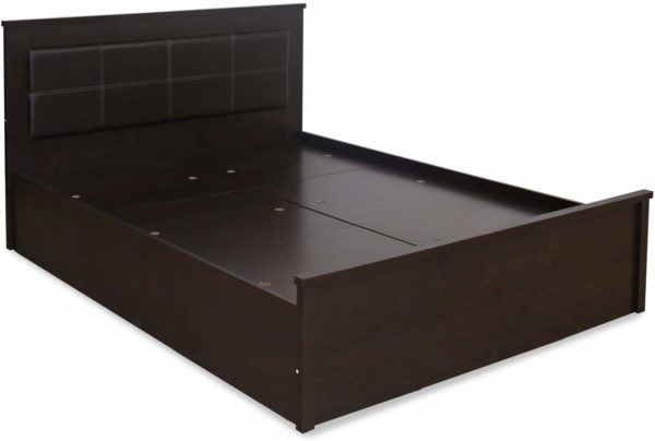 Crysta Queen Size Bed with Storage in Wenge Finish by Nilkamal