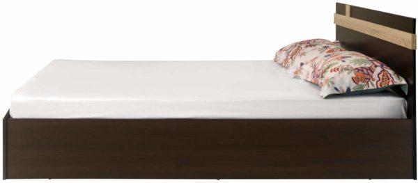 Ignis Queen Bed in Dark Brown Colour By Nilkamal