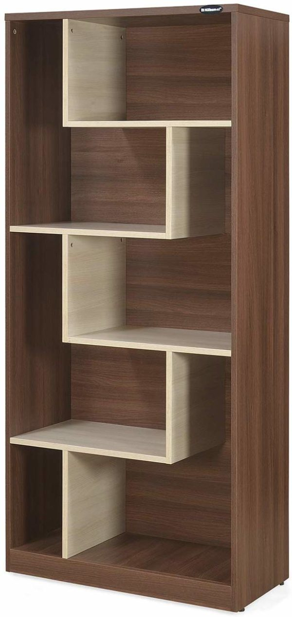 Maxi Bookcase in Brown and White