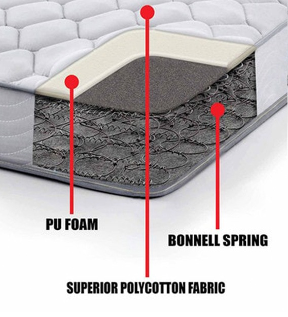 "K&M Bonnell Spring & Foam 4 ft. Size 6"" Thick Mattress"