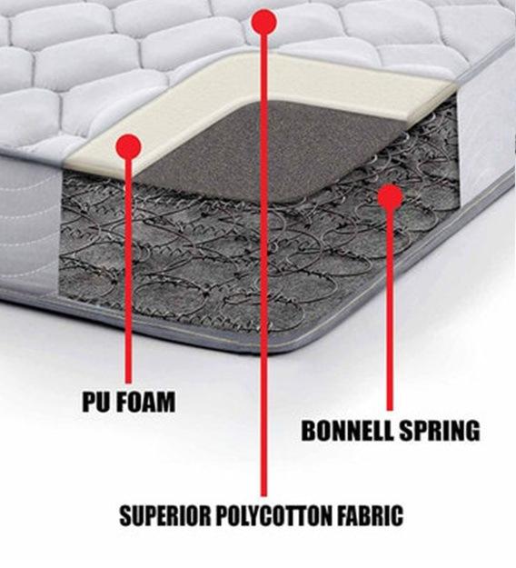 "K&M Bonnell Spring & Foam 5 ft. Size 6"" Thick Mattress"