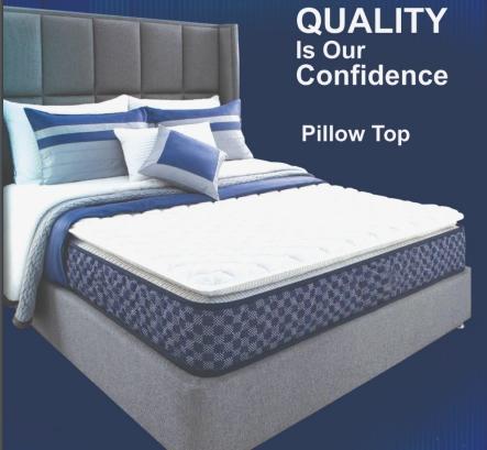 """K&M Pillow-Top  4-ft. Size 6"""" Thick Mattress"""