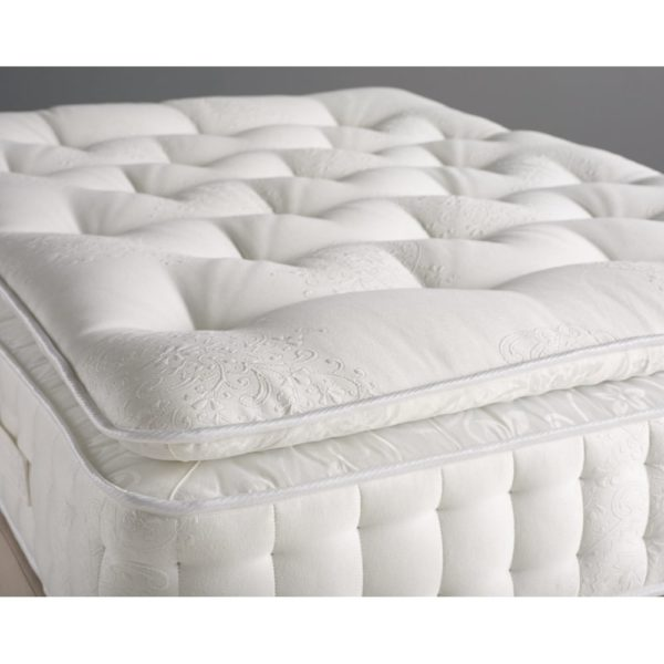 "K&M Pillow Top Pocketed 4ft.+ Size 6"" Thick Mattress"