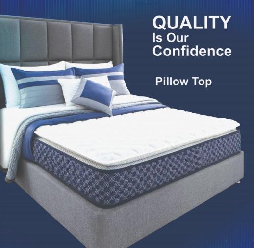 "K&M Pillow Top Pocketed 4ft.+ Size 6"" Thick Mattress"
