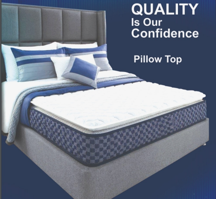 "K&M Pillow-Top Queen-Size 6"" Thick Mattress"