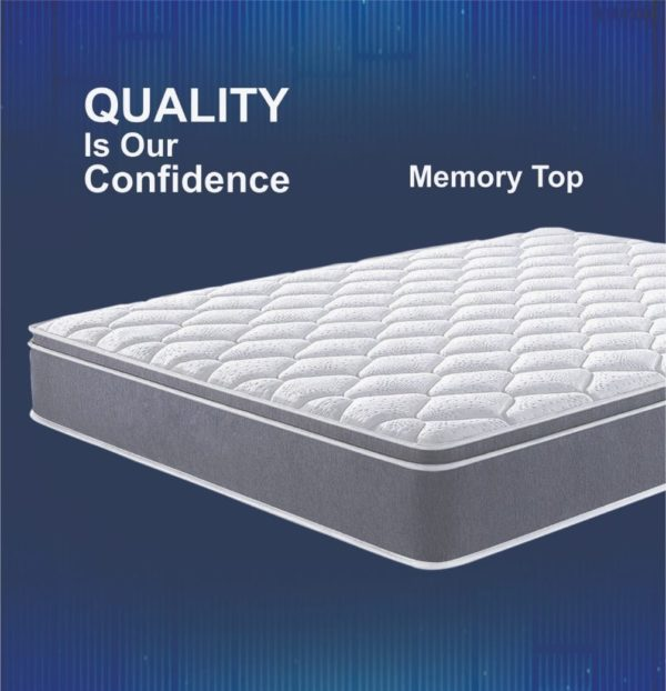 "K&M Memory Top Rebounded with Coir 4ft.+ Size 8"" Thick Mattress"