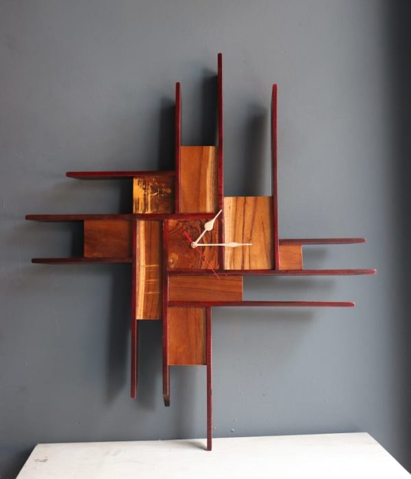 Seesa Wooden Teak finish designer clock