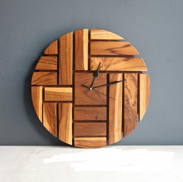 Sila Wooden Teak finish designer clock