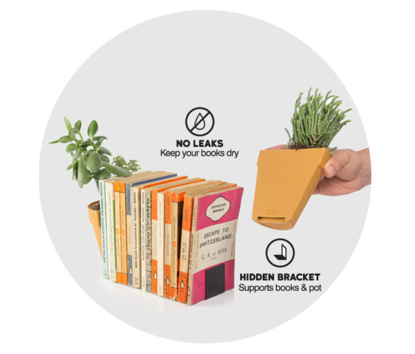 Plant Pot Bookends
