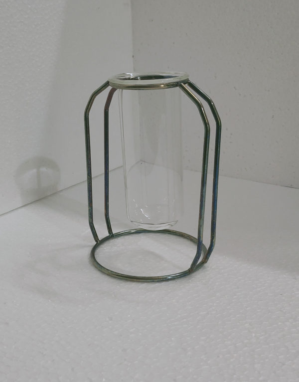 Abdouni Test Tube Metallic Holder Plant Vase