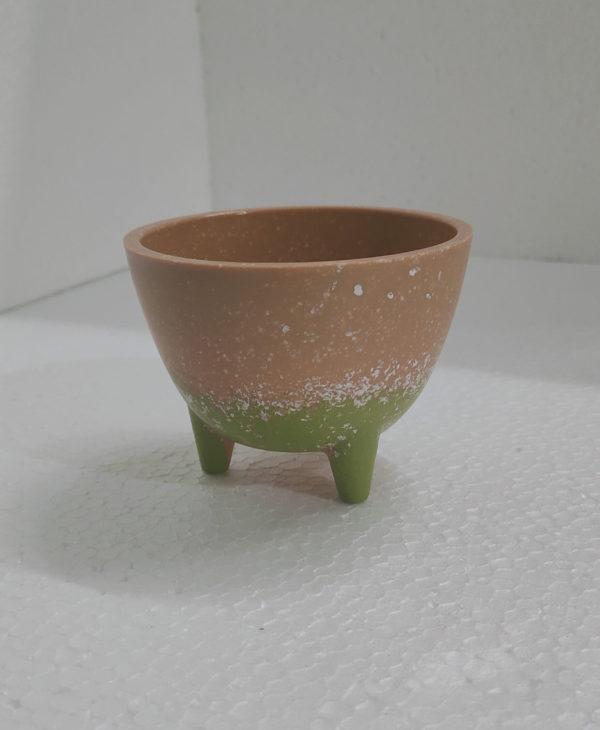 Alliete Yellow Circular Ceramic Plant Bowl