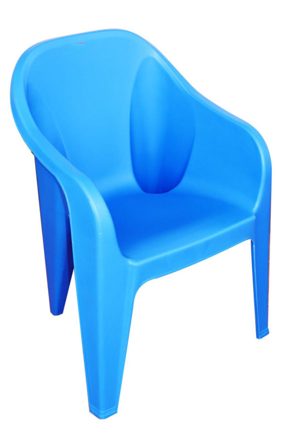 Subasi Solid Structure Chair Plastic Outdoor Chair  (Blue)