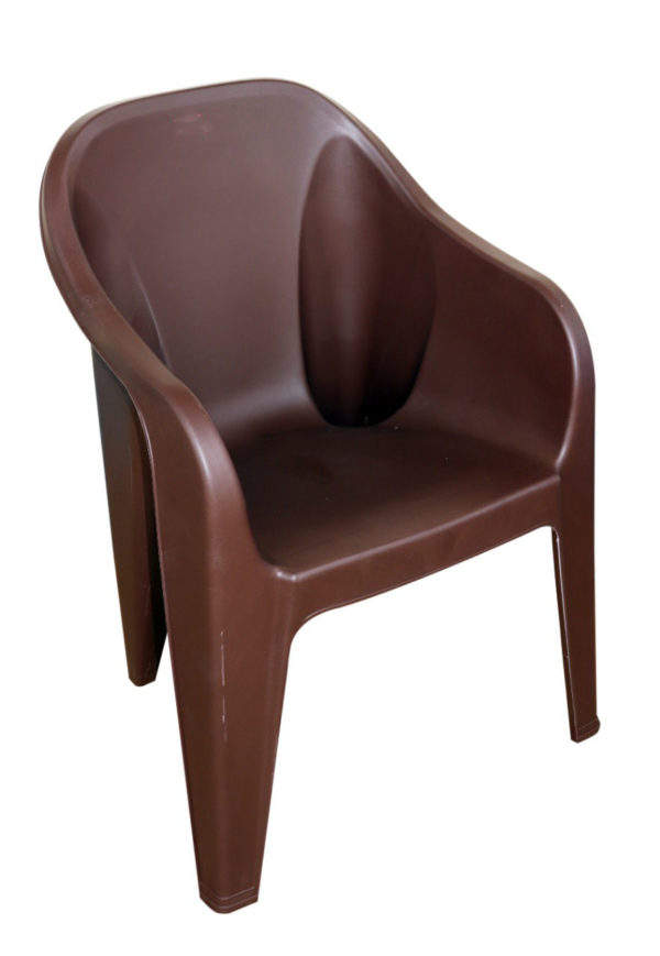 Subasi Solid Structure Chair Plastic Outdoor Chair  (Brown)