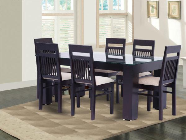 Jeremy 6 Seater Teak Wood Dining Set (6*3.5ft)