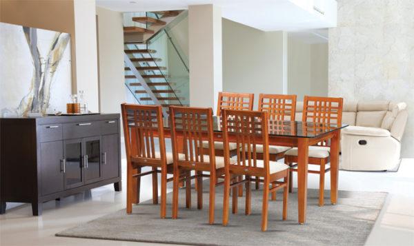 Floki 6 Seater Teak Wood Dining Set (5*3ft)
